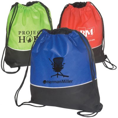 Non-Woven Textured String Backpack