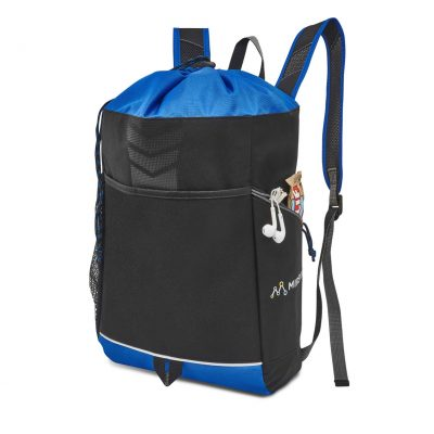 Riptide Drawstring Backpack Blue
