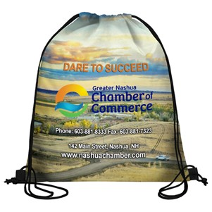 210 Polyester Full Color Sublimation Drawstring Cinch Pack Backpack (Overseas)