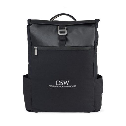 Charlie Cotton Computer Backpack - Black