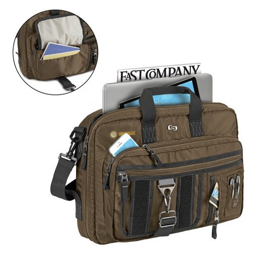 Solo Zone Briefcase Backpack Hybrid