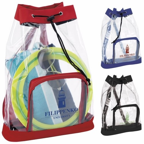 Good Value® Clear Cinch Backpack