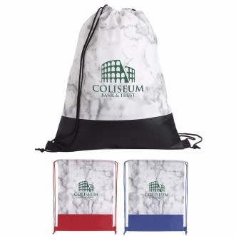 Good Value® Marble Drawstring Backpack