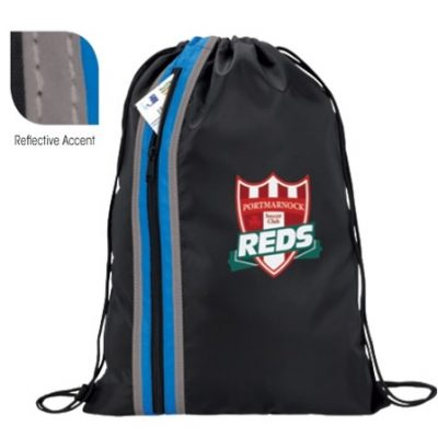 Good Value® Vertical Zippered Drawstring Backpack