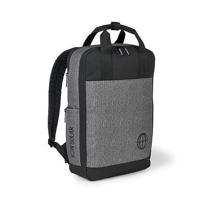 Logan Computer Backpack Grey-Silver