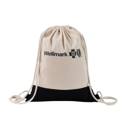 Two Tone Natural Drawstring Backpack