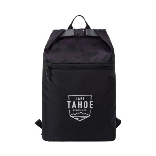 Rainier Roll Top Backpack Black-Camo