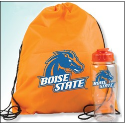 Drawstring Backpack and Bottle