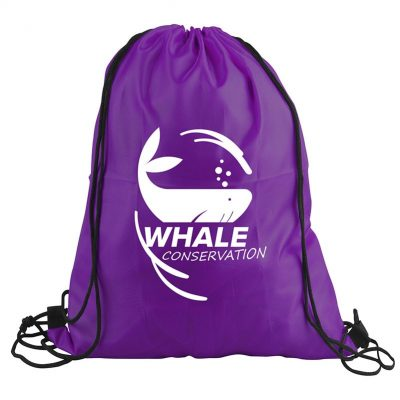 "The Junior - 13"" x 16"" Polyester Drawstring Backpack"
