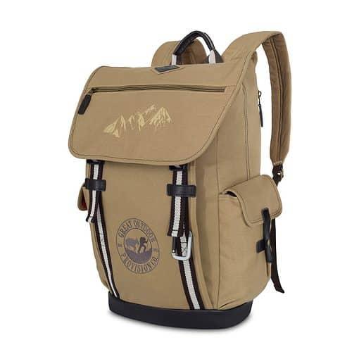 Heritage Supply Ridge Cotton Computer Backpack - Dune
