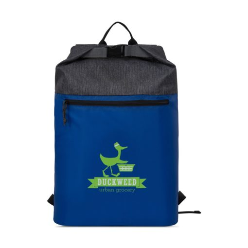 Rainier Roll Top Backpack - Royal Blue-Granite Heather Grey