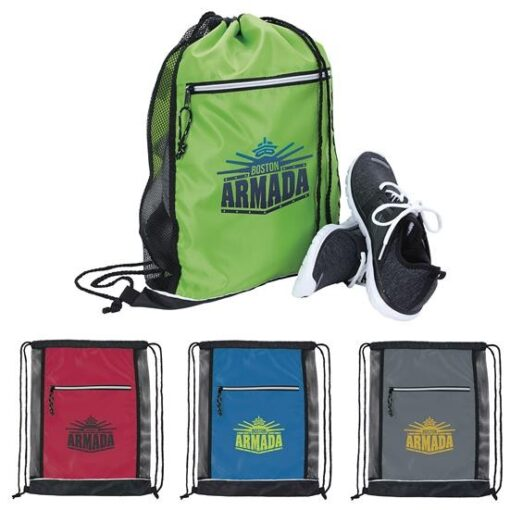Big Vented Drawstring Backpack