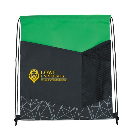 Reflective Geometric Drawstring Backpack