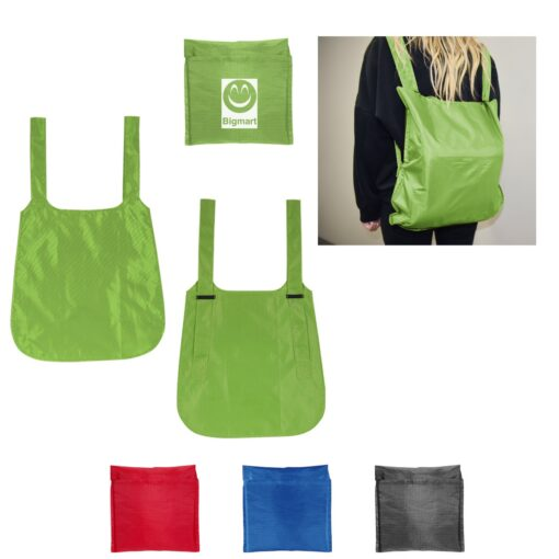 Convertible Ripstop Tote Bag Backpack